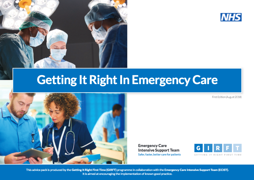 Getting it Right in emergency care report front cover