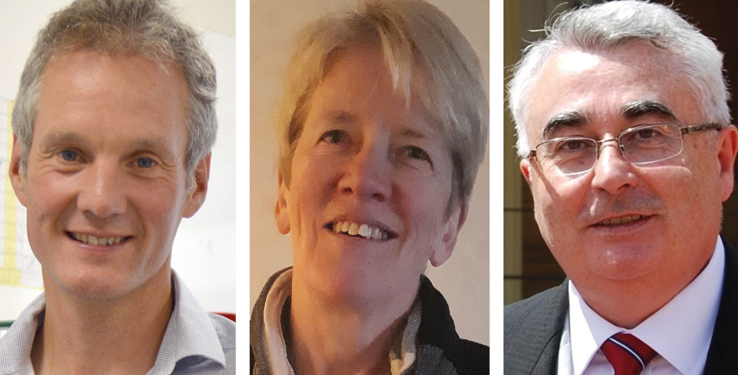 Dr Tom Lewis, Dr Marion Wood & Dr Martin Myers, GIRFT's three clinical leads for pathology