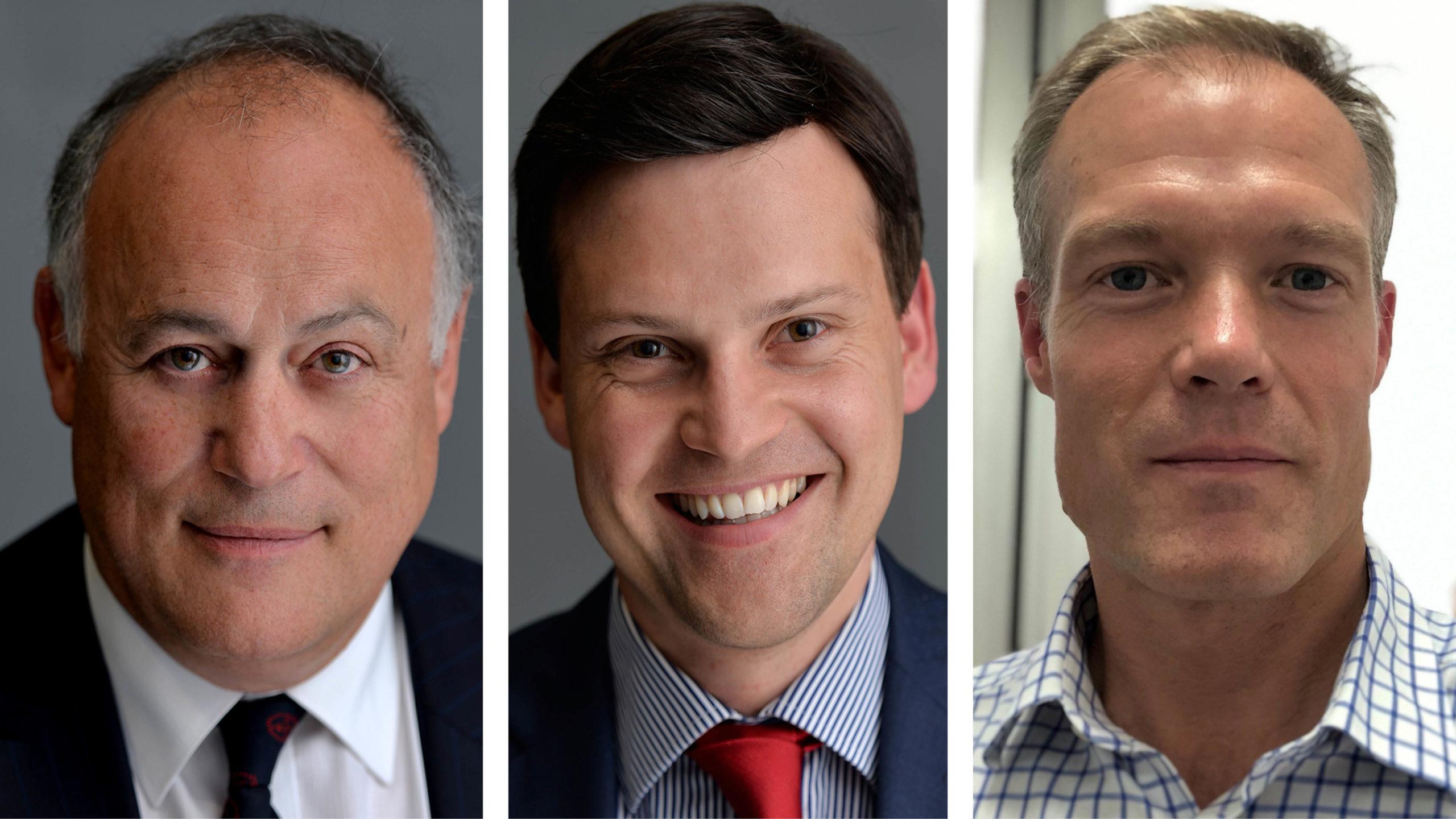 Professor Tim Briggs, John Machin and Daren Forward