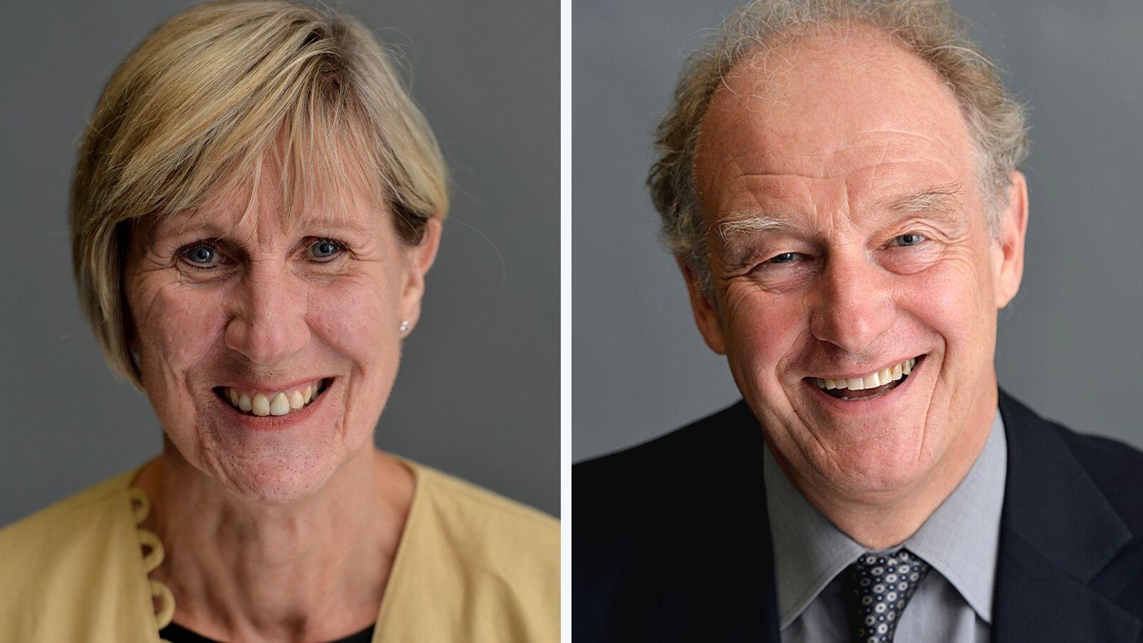 Professor Carrie MacEwen and Martin Allen